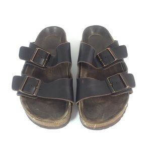 Birkenstock Arizona Birko Brown Leather Sandals 39